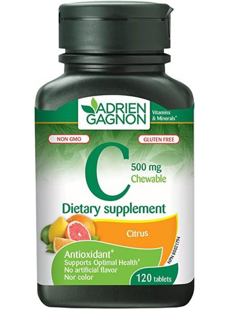VITAMIN C 500 mg X 120 TABLETA TË PËRTYPSHME - ADRIEN GAGNON