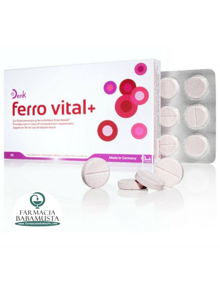 FERRO VITAL+ ME 30 TAB TË PËRTYPSHME - DENK NUTRITION
