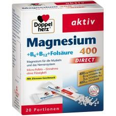 MAGNESIUM B6+B12+FOLSÄURE 400 DIRECT X 20 BUSTINA - DOPPEL HERZ®