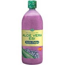 Aloe Vera Succo Activ Polpa con Mirtillo - ESI - 1L