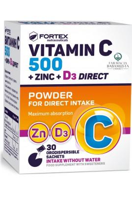 FORTEX - VITAMIN C 500 + ZINC + D3 DIRECT
