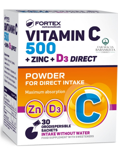 FORTEX - VITAMIN C 500 + ZINC + D3 DIRECT