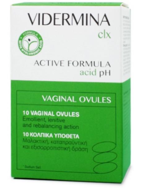 VIDERMINA CLX ACTIVE FORMULA ACID pH X 10 OVULI - ISTITUTO GANASSINI