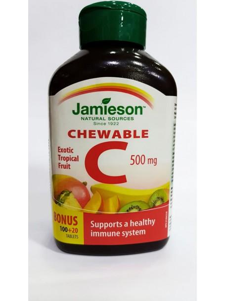 VITAMIN C 500 mg X 120 TABLETA TË PËRTYPSHME - JAMIESON