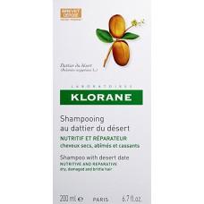 SHAMPO WITH DESERT DATE 200 mL - NUTRITIVE AND REPARATIVE - SHAMPO PER FLOKE TE THATE DHE TE DEMTUAR - KLORANE