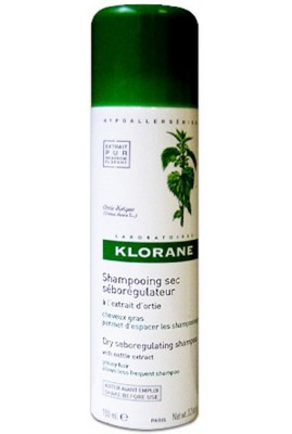 DRY SHAMPO WITH NETTLE 150 mL SPRAY - OIL CONTROL - SHAMPO E THATE 150 mL - KLORANE