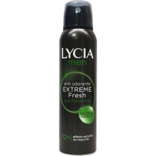ANTI ODORANTE EXTREME FRESH - DEODORANT SPRAY EXTREME FRESH PER BURRA 150 mL - LYCIA MEN