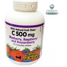 VITAMIN C 500 mg X 90 TABLETA TË PËRTYPSHME - NATURAL FACTORS