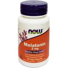 MELATONIN 3 mg x 60 VEG CAPSULES - PËR NJË GJUMË TË REHATSHËM - NOW® SOLUTIONS