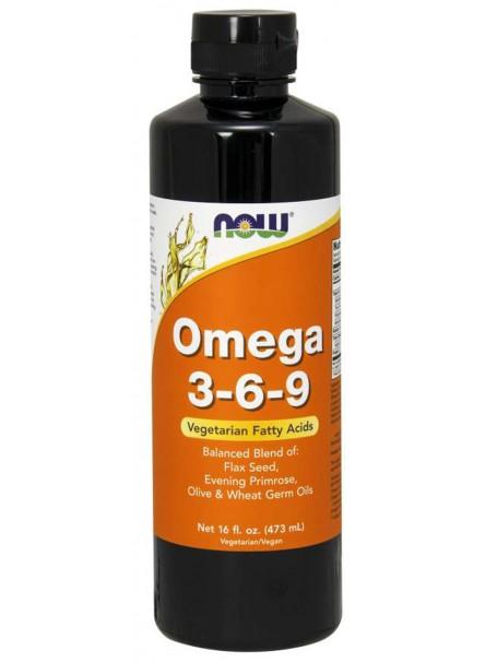 OMEGA 3-6-9 NË FORMË TË LËNGSHME 473 mL - NOW® FOODS