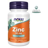 ZINC 50 mg X 100 TAB - NOW