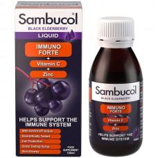 SAMBUCOL LIQUID IMMUNO FORTE + VITAMIN C + ZINC 120 mL