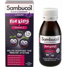 SAMBUCOL LIQUID FOR KIDS + NATURAL VITAMIN C - 120 mL - 1-12 VJEÇ