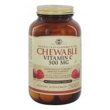 SOLGAR - VITAMIN C 500 mg TË PËRTYPSHME - CRAN-RASPBERRY FLAVOUR
