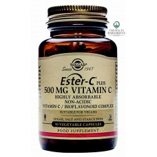 SOLGAR - ESTER-C VITAMIN C 500 mg HIGHLY ABSORBABLE x 50 VEGETABLE CAPSULES