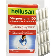 HEILUSAN MAGNESIUM 400 + B KOMPLEX + VITAMIN E X 64 TABLETA
