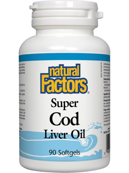 SUPER COD LIVER OIL X 90 - NATURAL FACTORS