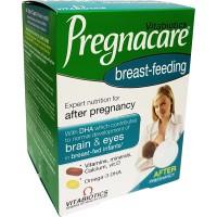 PREGNACARE® BREAST-FEEDING AFTER PREGNANCY DUAL PACK (VITAMINS, MINERALS, OMEGA 3) 84 TAB/CAPS - VITABIOTICS