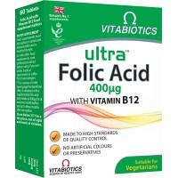 ULTRA FOLIC ACID WITH VITAMIN B12 X60 TAB  - VITBIOTICS