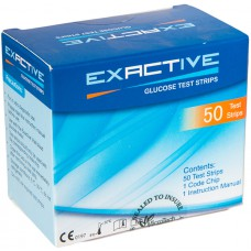 EXACTIVE X 50 STRISHA - GLUCOSE TEST STRIPS