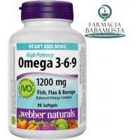 OMEGA 3 6 9 (1200 mg) X 60 PERLA - WEBBER NATURALS